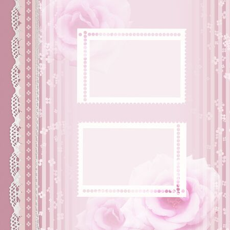 vintage romantic background with roses  photo