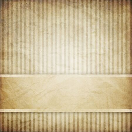 width: vintage striped background with banner, variable width stripes