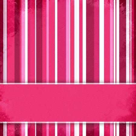Lila, rosa und weiß gestreiften Hintergrund mit Banner, variable Breite Streifen Standard-Bild - 14571980