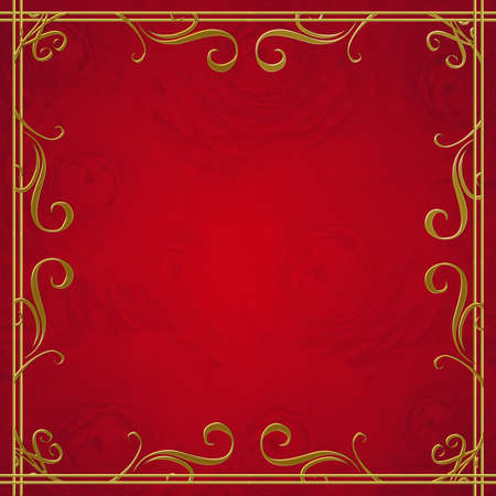 Red  and golden  luxury background  photo
