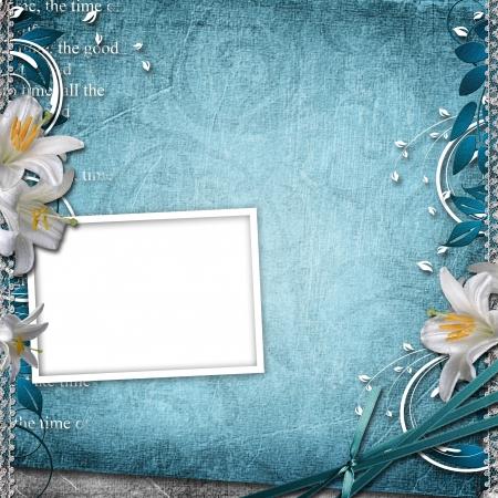 neutral background: Vintage Floral Background With Frame