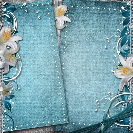 fancy border: Vintage Floral Background