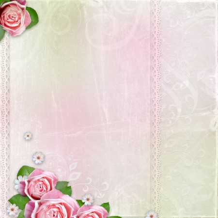 Beautiful wedding, holiday background with roses photo