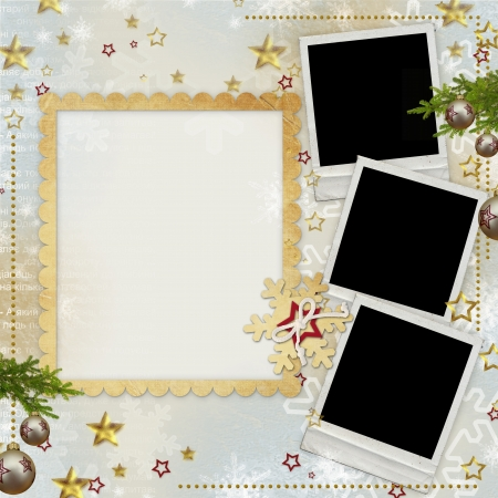 old Christmas greeting card  photo