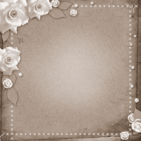 vintage beautiful wedding background with roses photo