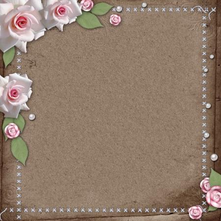backstitch: vintage beautiful wedding background