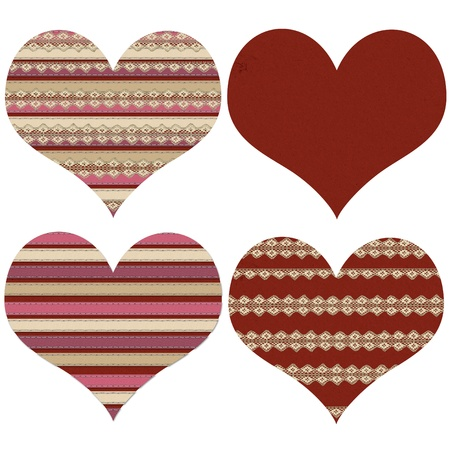 Block of four red  Valentine hearts  Stock Photo - 17230608