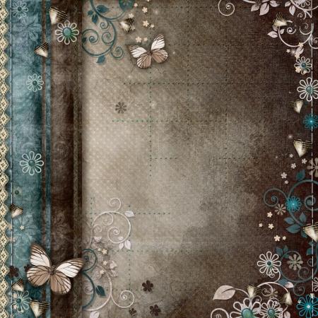 Vintage Hintergrund für Einladung oder Glückwünsche Standard-Bild - 17594581
