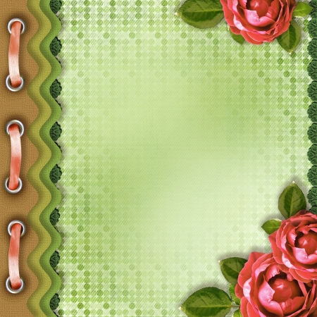 Album cover with roses