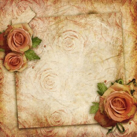 florescence: Card for greeting or invitation on the vintage background Stock Photo