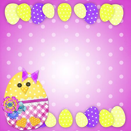 Easter or birthday Card With A Chick photo