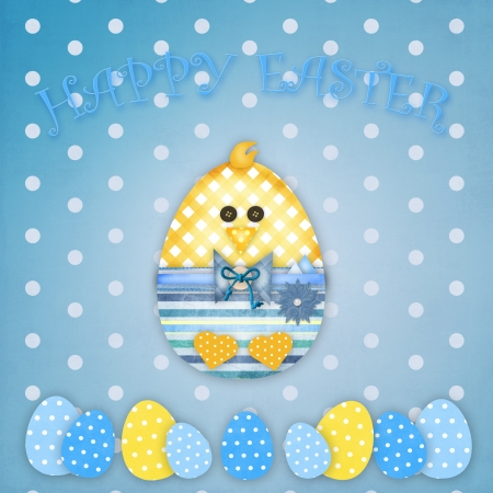 easter card with a boy chick photo