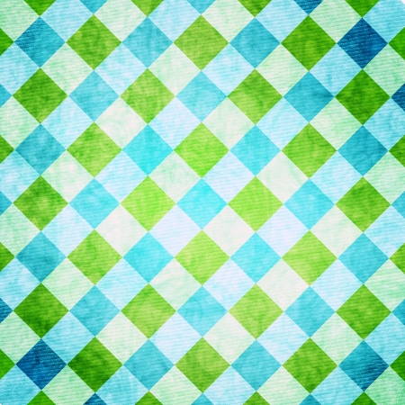 Rhombus Background in Blue and Green photo