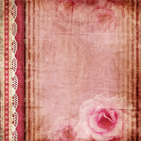 vintage romantic background with roses - album cover photo