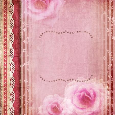 バラとヴィンテージのロマンチックな背景