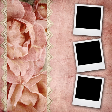 photoalbum: beautiful wedding background with   roses banner and lace