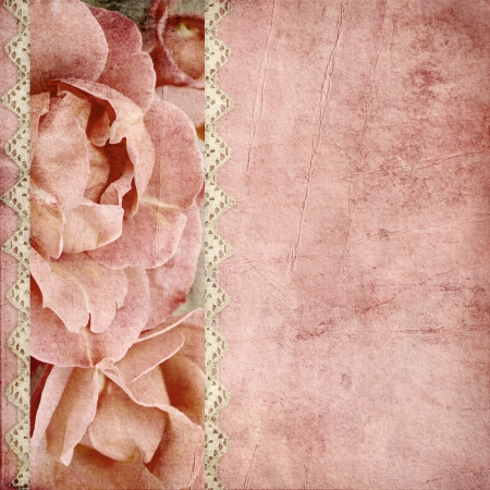 beautiful wedding background with  roses banner and lace