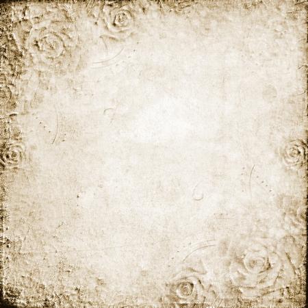 Grunge  wedding background  with roses