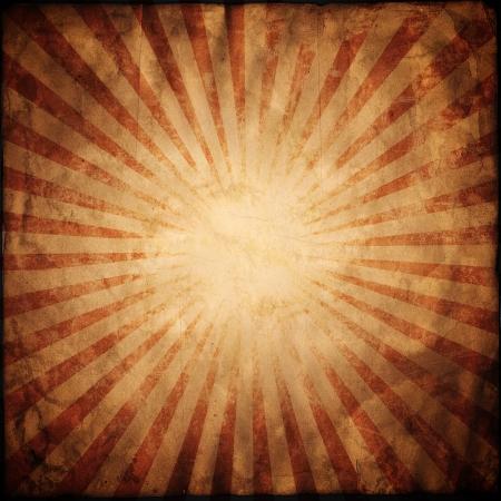 radiation: Red Grunge Texture Background With Sunburst
