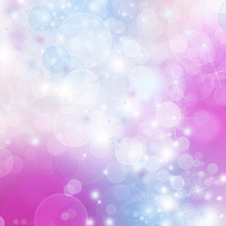 A bright background with blue, purple and pink bokeh effects Stock Photo