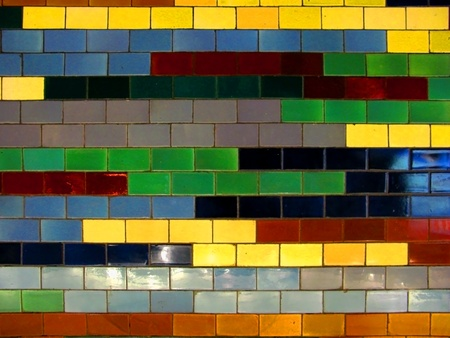 The Colorful vintage ceramic tiles wall Stock Photo - 20957470