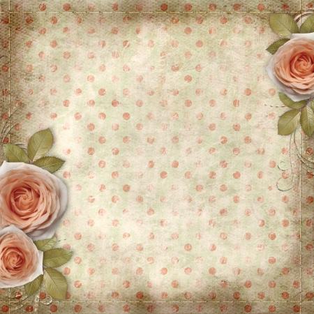 Grußkarte mit schönen Rosen Standard-Bild - 21047735