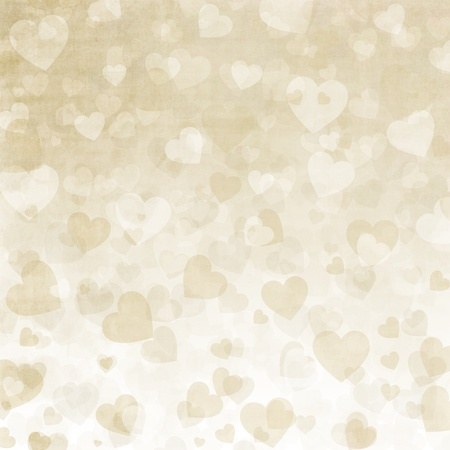 wedlock: Background for congratulation card with hearts Stock Photo