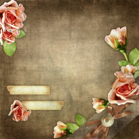 vintage texture background with flowers