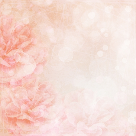 Beautiful pink wedding background with roses  photo