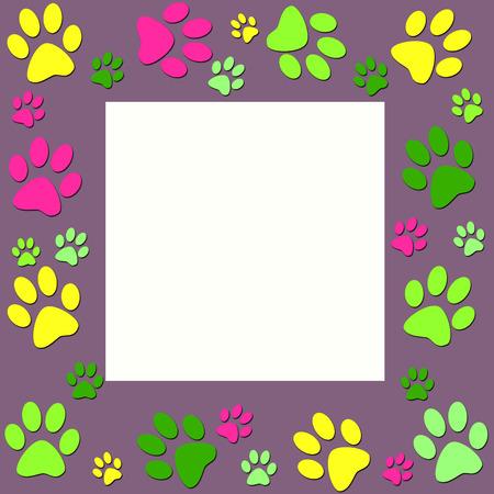 Animal paws   frame photo
