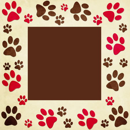 pets icon: Animal paws   frame