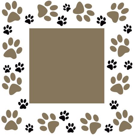 wander: Animal paws  monochrome frame Stock Photo