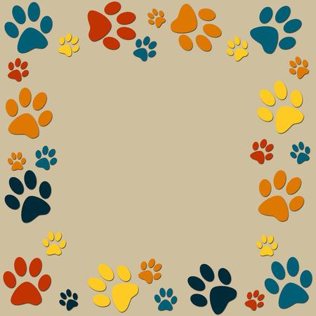 print: Tierpfoten Farbe Hintergrund