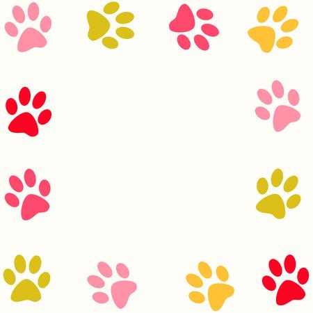 huellas de perro: Patas de color Animal de fondo