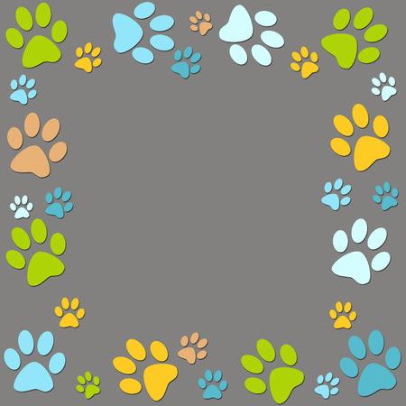 Animal colour paws background photo