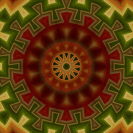 Decorative seamless pattern in ethnic style photo