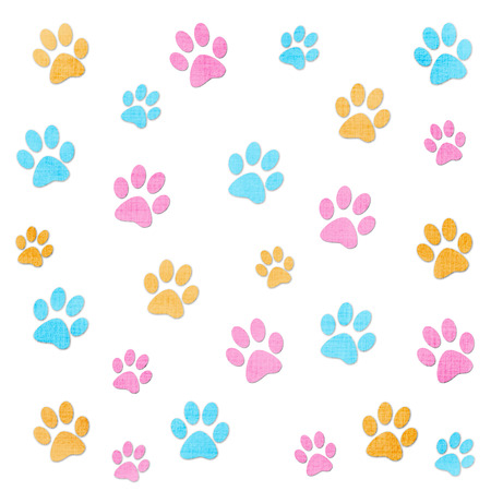 painted toes: Paw prints Stock Photo