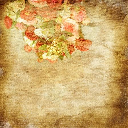 cartoline vittoriane: sfondo romantico d'epoca con rose
