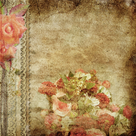 retro backgrounds: vintage romantic background with roses
