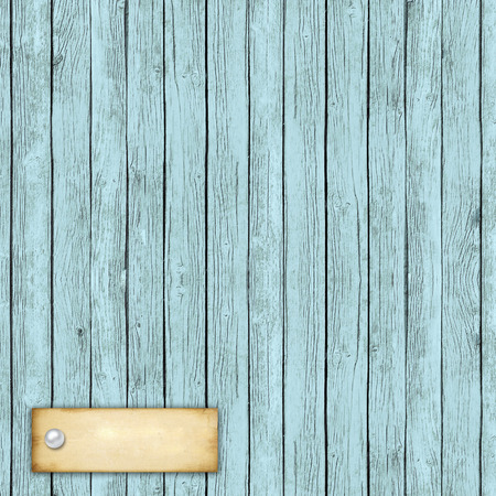 amore: Wooden texture of blue color with paper card and text Amore Stock Photo
