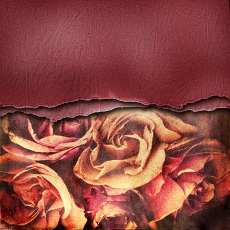 darck: Grunge abstract background with roses