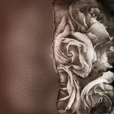 alienated: Grunge abstract background with roses