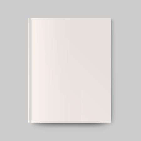 Blanco magazine cover. Geïsoleerd object voor het ontwerp en branding