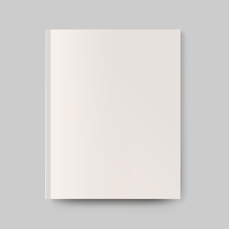 Blank magazine cover. Isolated object for design and branding Illustration