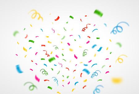 confetti: Colorful confetti background. Vector Illustration