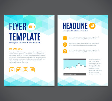 Vector template design, flyer, brochure, cover book, page. Abstract colorful geometric background.