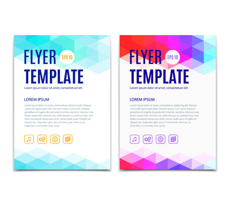 web sites: Abstract colorful geometric background. Vector template design of flyer, brochure, web sites, cover book, page