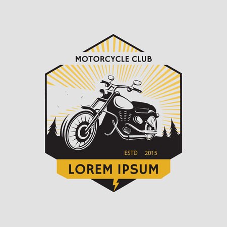 a motorcycle: Motorcycle club label. Vector