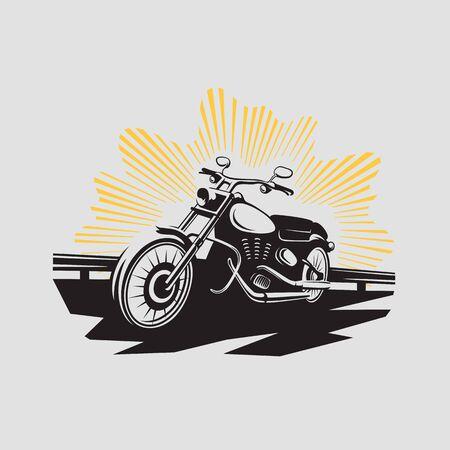 garage background: Motorcycle label