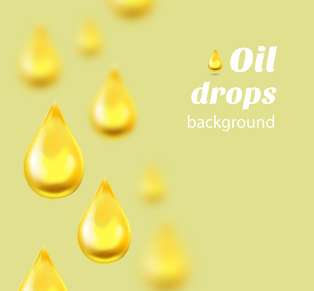 Oil drops background with place for text. Vector illustration Vectores
